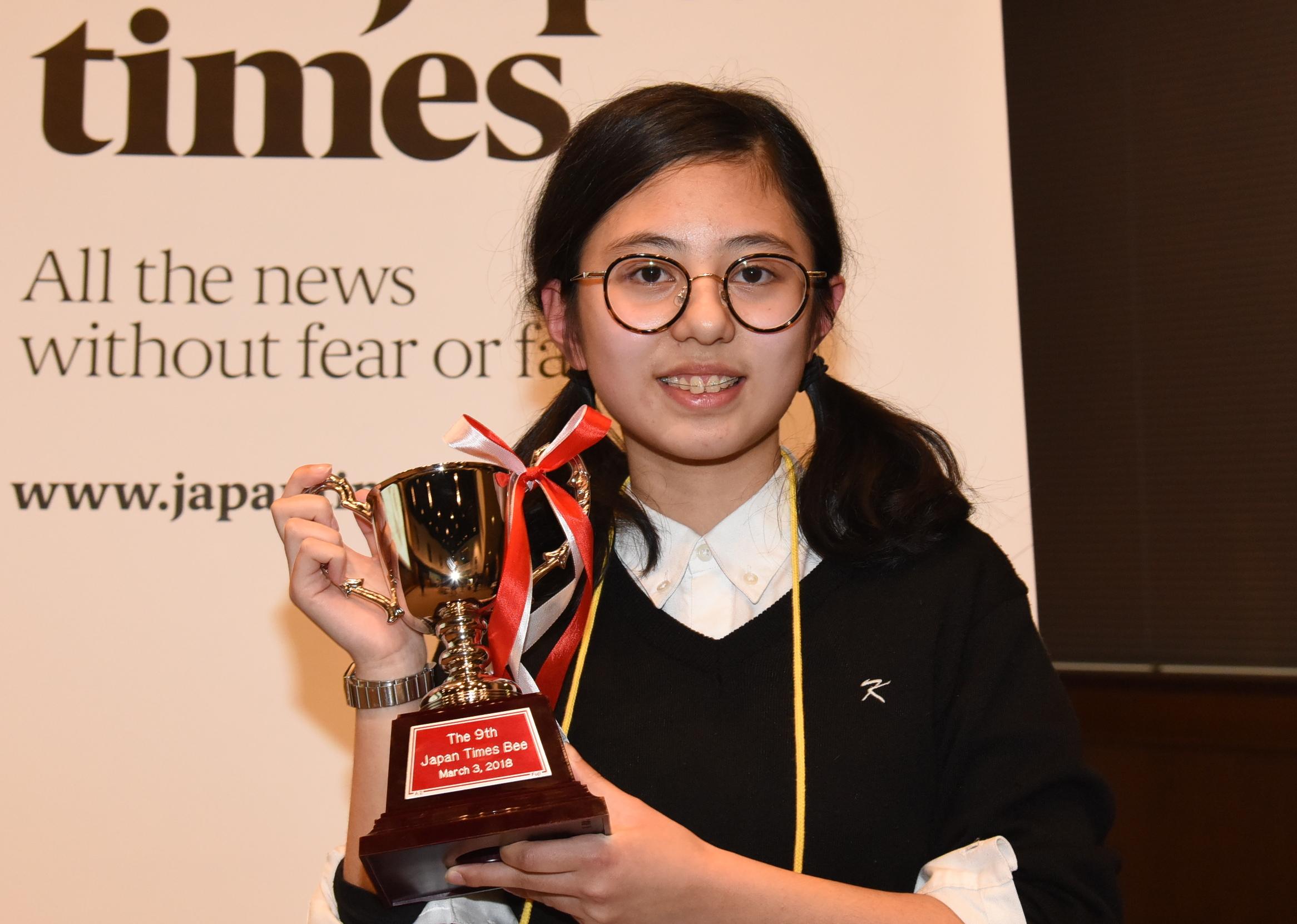 Hanna Yoshida, 14, from K. International School Tokyo. | SATOKO KAWASAKI